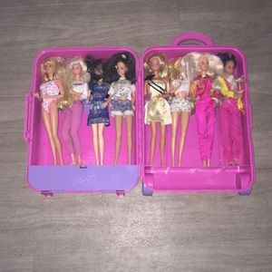 Barbie suitcase and Barbies